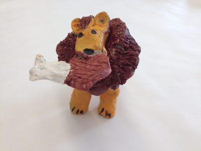 clay lion