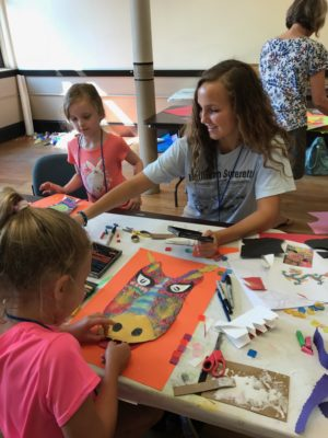 kids with crafts